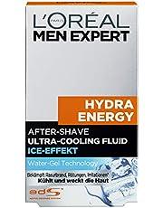 L'Oréal Paris Men Expert After Shave en gezichtsverzorging voor mannen, tegen scheerbrand, roodheid en huidirritatie, Hydra Energy, 1 x 100 ml
