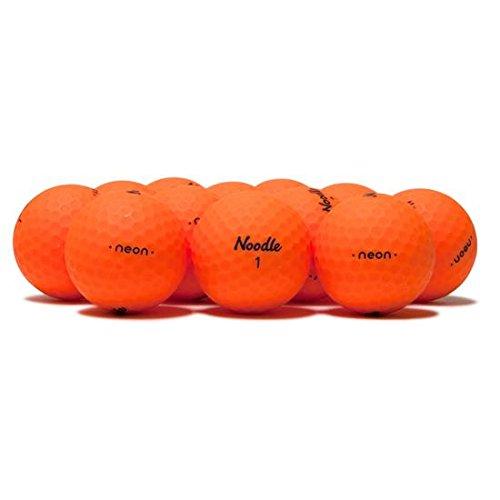 Taylor Made Noodle Neon Matte Orange Golf Balls -