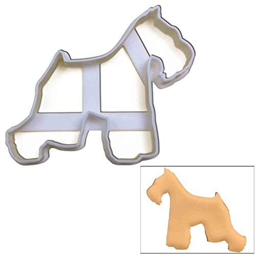 Schnauzer cookie cutter (short tail), 1 pc, Ideal gift for dog lovers