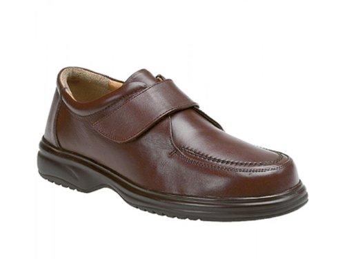 Roamer - Mocasines de cuero para hombre marrón marrón marrón