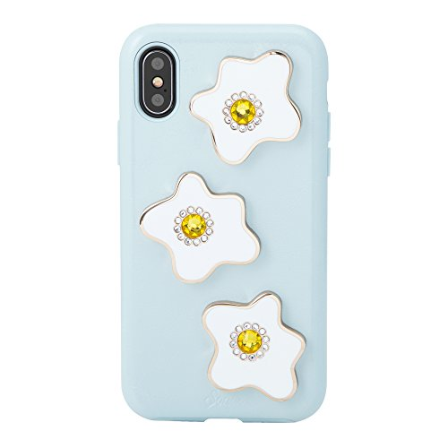 iPhone Xs, iPhone X, Sonix EGGY Patent Leather Phone Case with Swarovski Crystal Embellishments [Drop Test Certified] Sonix Patent Leather Case for Apple (5.8