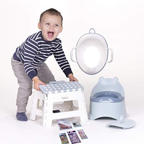 BISOO Set Plaspotje + Toiletbril Verkleiner + Opvouwbare Opstapkruk + 3 Geschenken (Onze Tips + 1 Magische Sticker + 2…