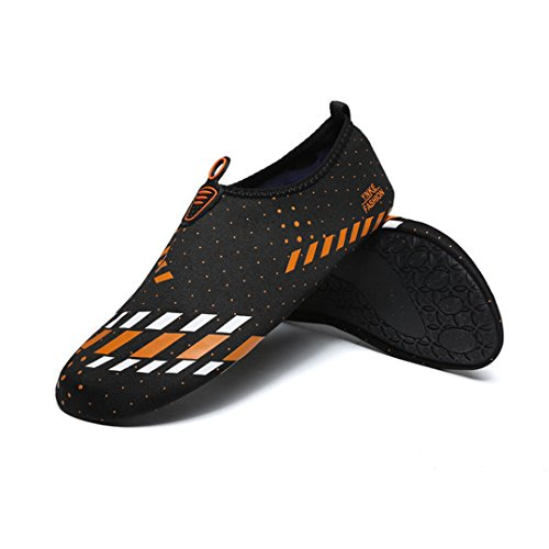BEACHR Beach Outdoor Swimming Water Shoes Beach Ski Swimming Yoga Shoes Orange 9 by BEACHR