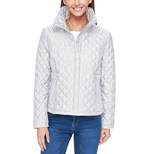 Marc New York Ladies' Quilted Jacket (White, Large)