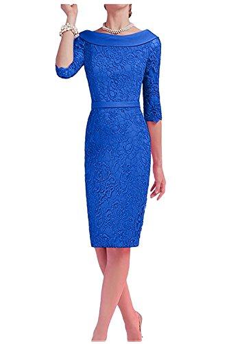Partykleider Etuikleider Brautmutterkleider 2 Charmant Royal Abendkleider Damen Blau Ballkleider Kurz Knielang 0x0qaF7X