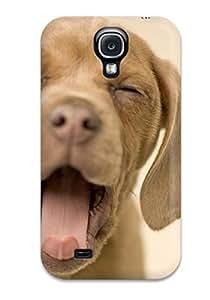 Fashion MwhNBlJ11049UJoHG Case Cover For Galaxy S4(yawning Puppy)