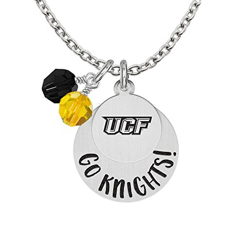 Central Florida Knights GO Necklaces With Round Charm and Crystal Accents