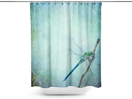 ABin Vintage Shabby Chic Background With Dragonfly Shower CurtainsWater Repellent Anti Bacterial Waterproof Mildew Resistant Fabric 12 Curtain