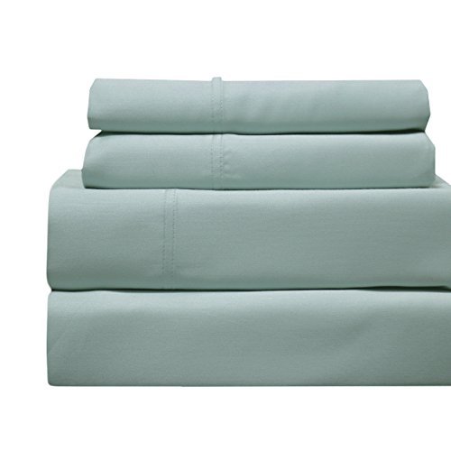 CinchFit Quahog Bay Bedding Cinches to Fit & Doesn't Pop Off! Home, RV and Adjustable Beds -Luxury Bamboo 600TC Sheet Set (Sea, Split Flex Top Cal King) ...