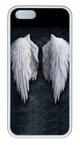 Angel Wings TPU Silicone Rubber iPhone 5 and iPhone 5S Case Cover - White
