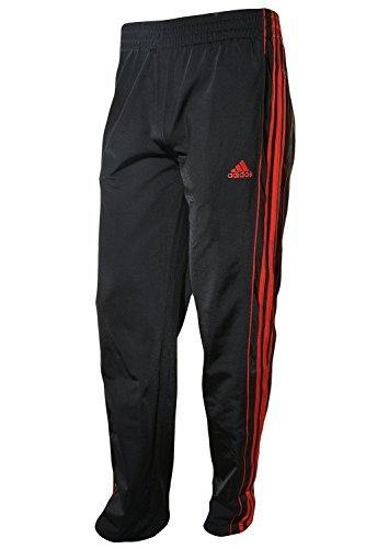 Adidas Big Boys Fleece Lined Track Pant, Black/Scarlet, Medium-10/12