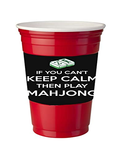 - 4 Pack of Vinyl Decal Stickers for Disposable Cups/If You Can Not Keep Calm Play MahJong