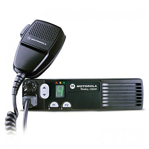Motorola Original CM200 AAM50RPC9AA1AN Mobile UHF Transceiver 438-470 MHz High Power 40 Watts 4 Channels (Taxi Equipment)