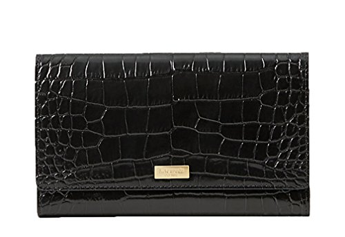 Kate Spade New York Bristol Drive Croc Phoenix Travel Wallet - Black by Kate Spade New York