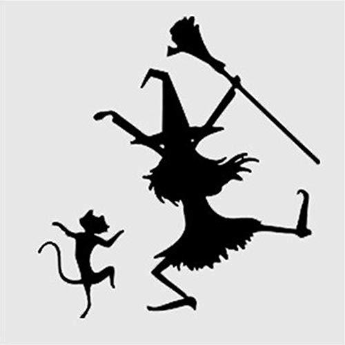 Seois Wall Sticker Decal Mural Window Vinyl Decal Quote Art Halloween Ghost Phantom Decals Decoration Cartoon Sticker for Festival ()