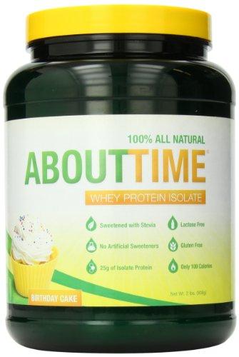 DDC Nutrition About Time isolat protéique de lactosérum, gâteau d'anniversaire, deux Pound