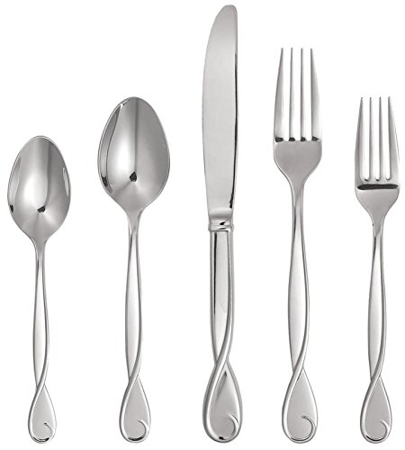 Kate Spade New York Women's Belle Boulevard 5 Piece Set Silver Flatware
