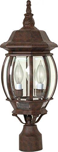 Nuvo Lighting 60/898 Three Light Lantern Post Mount, -