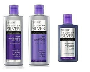 2. Touch Of Silver: Daily Maintenance Shampoo, Nourish Conditioner & Brightening Shampoo by PRO:VOKE (a Set of 3)
