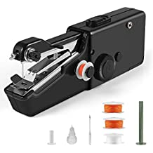 Portable Sewing Machine, Mini Cordless Handheld Electric Sewing Machine, Quick Handy Stitch Tool for Fabric, Clothing, Kids Cloth Home Travel Use ... (NEW-Black)