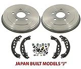 Fits 05-08 Toyota Corolla Built In Japan Models (2) Rear Brake Drums Shoes & Springs