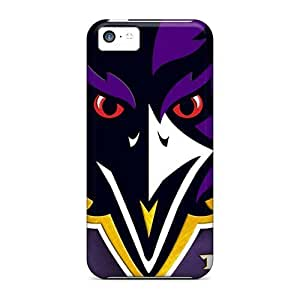 LJF phone case Hot Tpu Cover Case For Iphone/ 5c Case Cover Skin - Baltimore Ravens