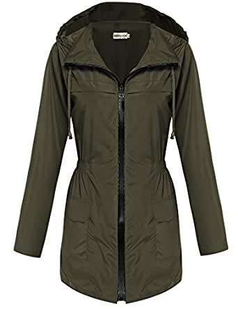 Amazon.com: HOTOUCH Womens Lightweight Travel Trench ...