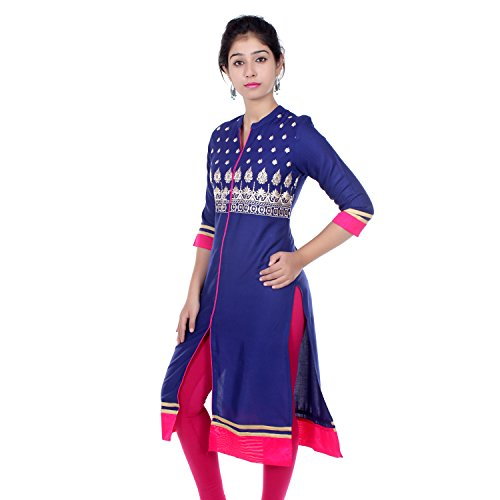 Chichi Embroidered Women's Tunic Top Kurti Blouse(Women's Day Special),X-Large,Blue – ladies kurta Review