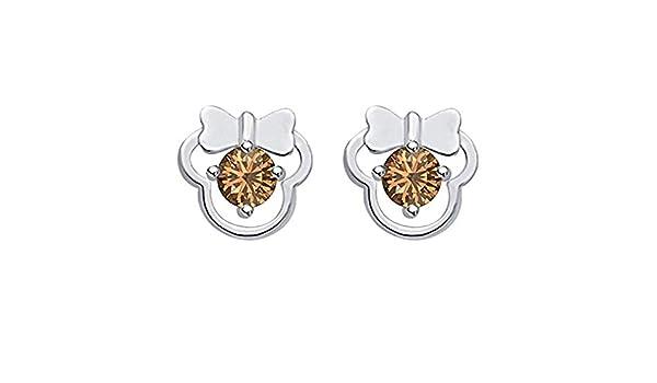 Suhana Jewellery Heart Earrings Collections 14K Gold Fn CZ Stud Earring for Girls Womens Daily Wear Jewellery