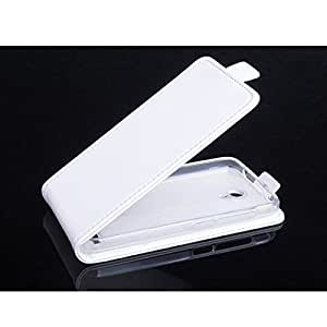 Voltear PU Funda de cuero para Alcatel One Touch Ídolo 2 Mini S 6036Y 6036X (color: blanco)