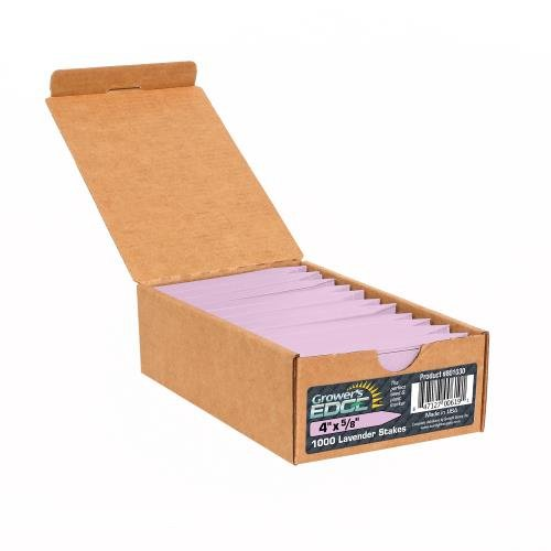 Grower's Edge Plant Stake Labels Lavender - LARGE Box of 1000pcs - Edge Stake