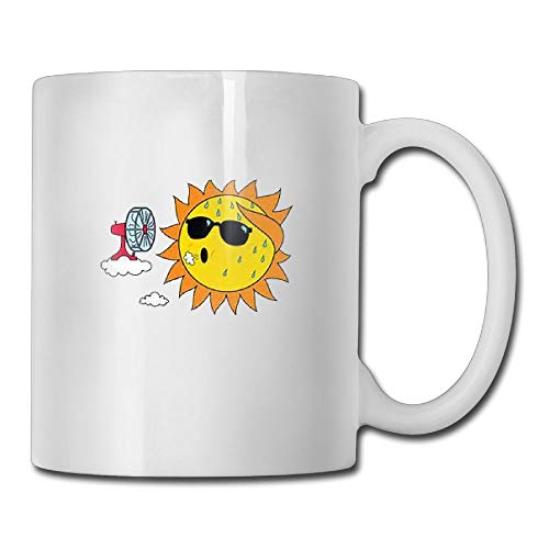 FOOOKL Solar Fan Fan Painting 11oz Tea Cup Coffee Mug -