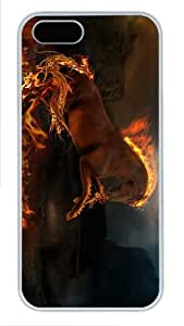 case customized burning horse PC White Case for iphone 5/5S