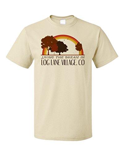 Living the Dream in Log Lane Village, CO | Retro Unisex T-shirt-(Adult,L) (Log Arbor)