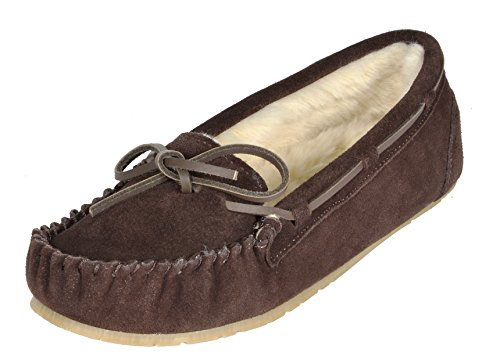 PAIRS DREAM Shozie Flats Shoes Fur Women's Slippers Brown Loafers Faux d4r746wq