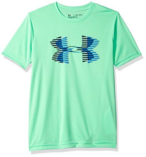 Under Armour Boys Tech Big Logo Solid T-Shirt, Youth Medium, Green Typhoon (375)/Academy ()