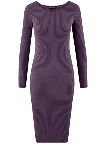 8801n Violet tes Collection Robe oodji Tricote C Femme Z8qnP0