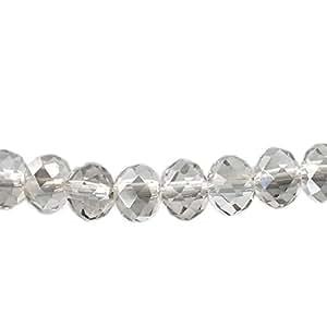 2 de Katy clemmans French Housweety gris caras similares a cuentas de cristal Rondelle 6 x 5 mm (0,64 cm X2/20,32 cm)