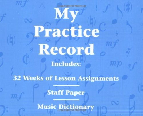My Practice Record: Hal Leonard Student Piano Library (Piano Practice Music)