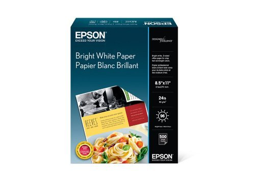 Epson Bright White Paper (8.5x11 Inches, 500 Sheets) (S041586)-5 Pack by Epson