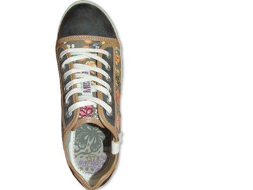 eefce91006c4 MUSTANG Damen Sneaker geblümt - Schnürer - mehrfarbig , Schuhgröße 42   Amazon.de  Schuhe   Handtaschen