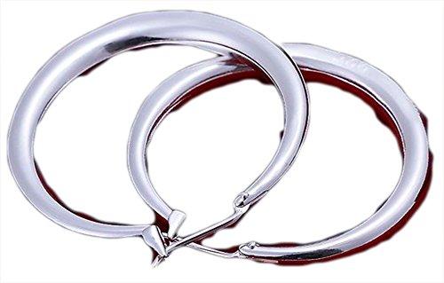 SaySure-Boucles d'oreilles-Argent 925 Sterling-YFLE020–CHA-UK-CJ-BG - 000190