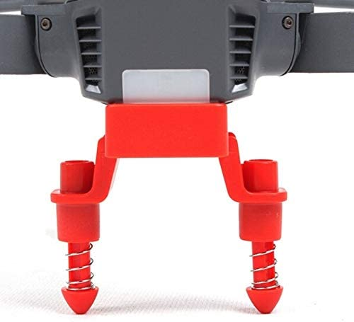 MEETBM ZIMO,Landing Gear Stabilizer Height Extender Damping Landing Skid Feet Bracket Protector for DJI Mavic Pro Black Color : Red