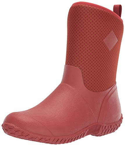 - Muck Boot Women's Muckster II Mid Rain Boot, Orange/Roses Print, 5 Regular US