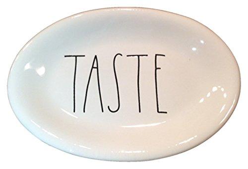 Rae Dunn Magenta Artisan Oval Appetizer Plate TASTE ()