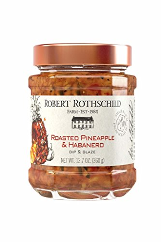 Robert Rothschild Farm Roasted Pineapple & Habanero Dip (12.7oz) - Dip & Glaze - Sweet & Spicy Dip for Chicken, Fish, Pork, Shrimp - Halibut and Salmon (Pineapple Cream Cheese)