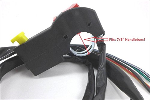 SMT Motorcycle Black Universal 7/8' 22mm Handle Bar ON/OFF Starter Switch For ATV Scooter Dirt BikeHonda Suzuki Yamaha Kawasaki Harley KTM Ducati Aprilia Vesp BMW SMT-MOTO
