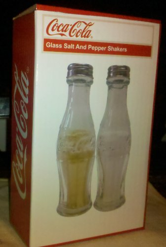 - Coca-Cola Glass Salt and Pepper Shakers