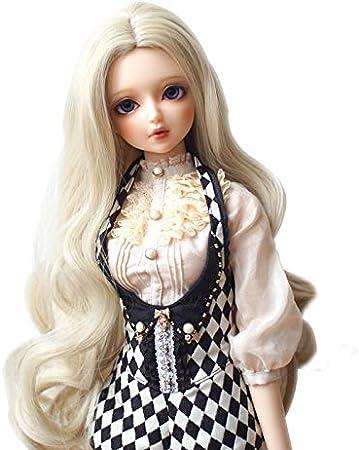 15cm Length High Temperature Material Multicolour Thick wig doll hair daniuwcq