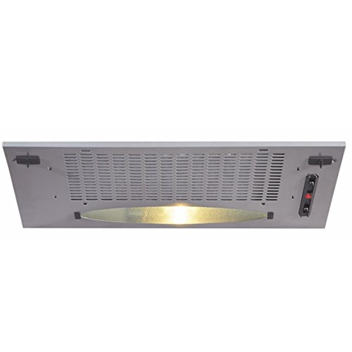 CDA CCA5SI 50cm Under Canopy Cooker Hood Extractor Fan In Silver JW-ZEXX-HX9E